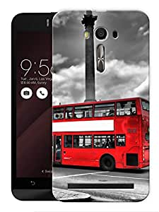 "Humor Gang London Bus Big Ben Printed Designer Mobile Back Cover For ""Asus Zenfone Selfie"" (3D, Matte, Premium Quality Snap On Case)"