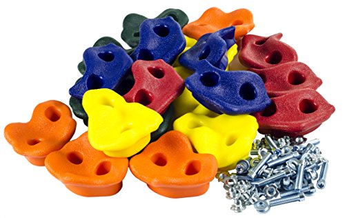 20-Assorted-Rock-Climbing-Holds-with-Hardware-Swing-Set-Accessories