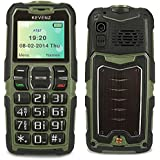 KEVENZ® 3G Senior Cell Phone, Simple and Easy to Use, SOS Button Unlocked GSM 2G Elderly mobile Phones -Green-KM300GREEN