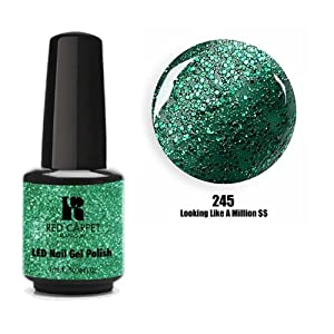 """Red Carpet Manicure - """"A Touch Of Bling"""" LED Gel Nail Polish Collection - Looking Like a Million $$ (245) 9ml"""