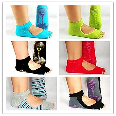 OUTERDO 1 Paar Damen Fünf Zehen Langlebig Anti-Rutsch Yoga Pilates Socken Sport