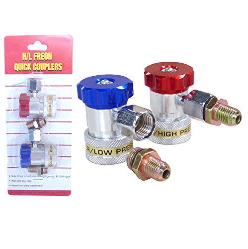 AC Quick Coupler Connector Set R134a Manifold Gauge