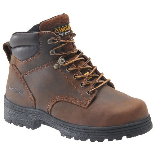 Carolina Men'S 6-Inch Broad Toe Internal Met Copper Crazy Horse Leather 9 D Us