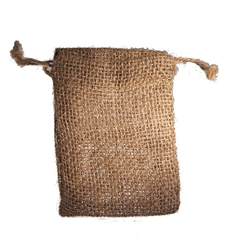 High Quality Burlap Favor Gift Bags With Drawstring 3 X 5 Inch - Pack Of 24 Bags Small