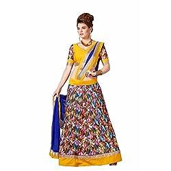 Mukta Mishree Exports Designer Printed Unstitched Lengha MME-1104