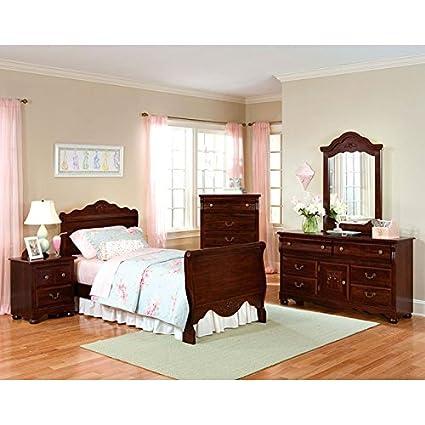 Jaqueline Sleigh Bedroom Set Twin