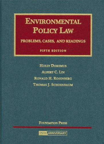 Environmental Policy Law: Problems, Cases and Readings...