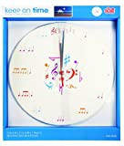 DCI Music Notes Wall Clock