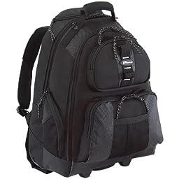 Targus Sport Rolling Backpack Case Designed for 15.4-Inch Notebooks, Black (TSB700) Color: Rolling Backpack