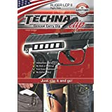 TECHNA TECLCPLL-BR Clip Rug LCP Ii RH Black Gun Stock Accessories (Color: Black, Tamaño: Ruger LCP ll .380 Gun Belt Clip (Right-Side))