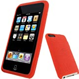 RED Silicone Skin Case Cover for Apple iPod Touch 2nd 2G & 3rd Generation 3G 8gb, 16gb, 32gb & 64gb + Screen Protector