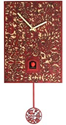 Modern cuckoo clock Silhouette red, quartz