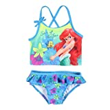Disney Little Mermaid Girls' Ariel 2 Piece Tankini Swimsuit