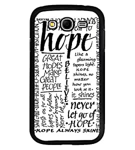 Fuson Premium Hope Metal Printed with Hard Plastic Back Case Cover for Samsung Galaxy Grand Duos i9080 i9082