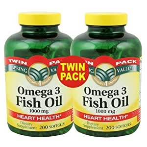 Spring valley omega 3 fish oil twin pack for Spring valley fish oil review
