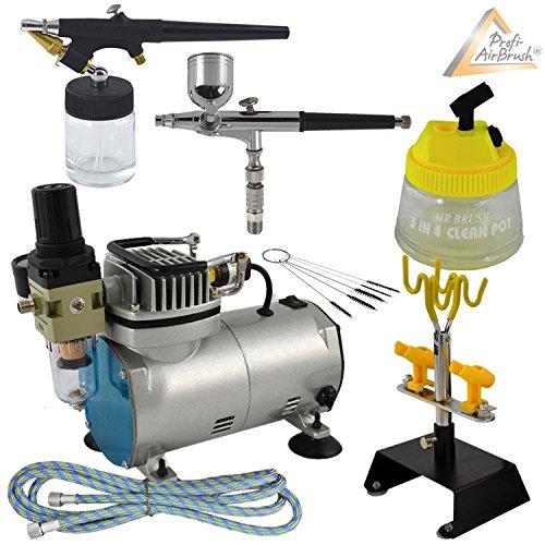 PROFI-AIRBRUSH-SET-mit-Airbrush-Kompressor-Compact-II-Ideales-AIRBRUSH-Kit-fr-Einsteiger-und-Fortgeschrittene-der-Airbrush-Technik