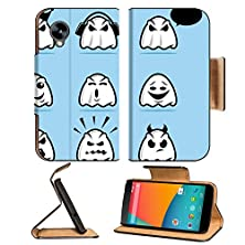 buy Luxlady Premium Lg Google Nexus 5 Flip Case Collection Of Various Ghost Cartoon Icons Image 22970869 Pu Leather Card Holder Carrying