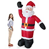 Riesiger Weihnachtsmann 240cm LED Beleuchtet Weihnachten Nikolaus Lebensgroß
