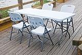 6FT FOLDING GARDEN BANQUET TRESTLE CAMPING WHITE TABLE