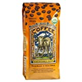 Ravens Brew Whole Bean Organic 3 Peckered Billy Goat Dark Roast 12 Ounce Bags  Pack of 2
