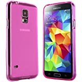 Samsung Galaxy S5 Mini Hülle in Pink - Silikonhülle Case Schutzhülle Tasche für Galaxy S5 Mini