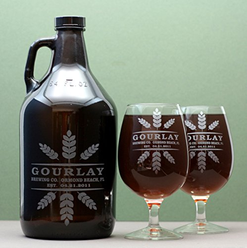 personalized-engraved-wedding-newlywed-growler-snifter-set-with-wheat-crowns-art