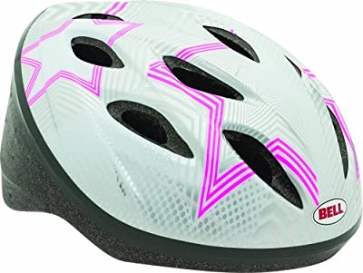 BELL SPORTS INC Bicycle Helmet, Girls', Silver & Pink Star by BELL SPORTS INC