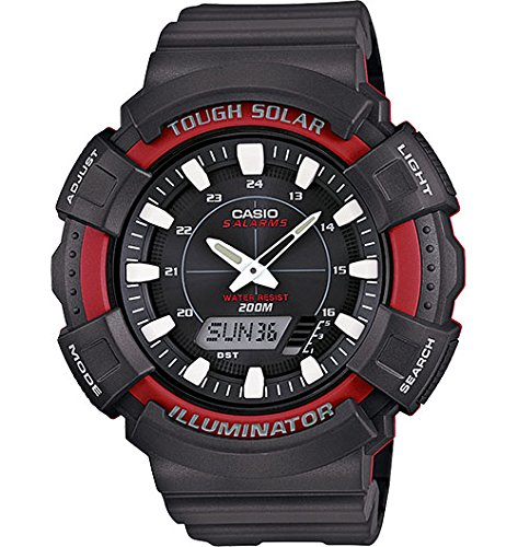 Casio Men's AD-S800WH-4AVCF Solar Watch with Black Resin Band