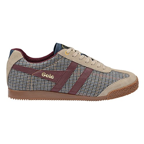 Gola Men's Harrier Savile Row Casual Sneaker,Taupe/Dogtooth Textile,US 10 M
