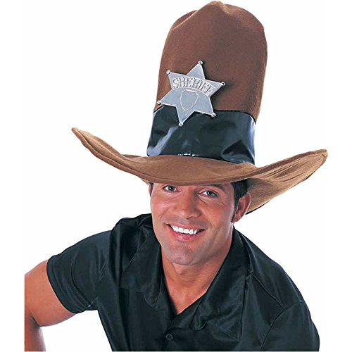 Brown Oversized Cowboy Hat