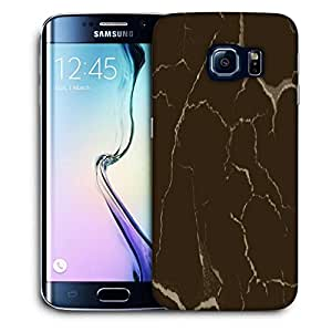 Snoogg Brown Crack Printed Protective Phone Back Case Cover For Samsung Galaxy S6 EDGE / S IIIIII