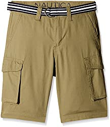 Nautica Kids Boys' Shorts (N865102Q396_Moss_9 - 10 years)