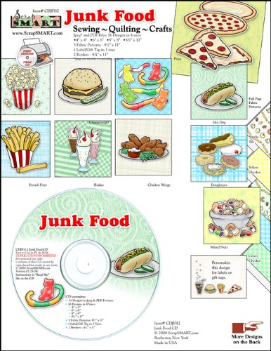 ScrapSMART - Junk Food - Clip Art Software Collection - Jpeg & PDF files (CDJF112)