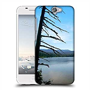Snoogg River Side Mountain Designer Protective Phone Back Case Cover For HTC one A9