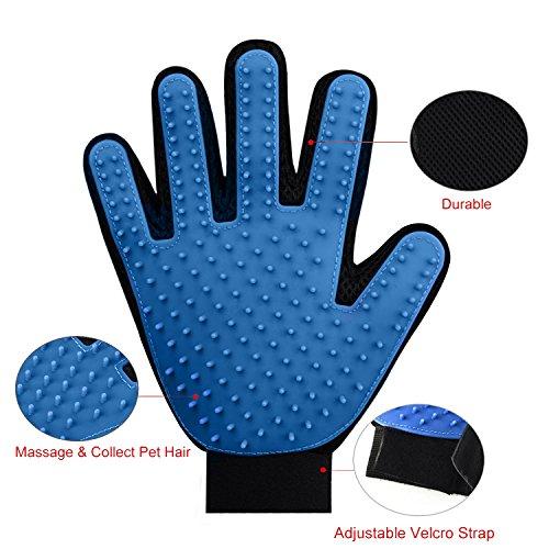 Wangstar Pet Grooming Gloves Mitts Pet Deshedding Tool