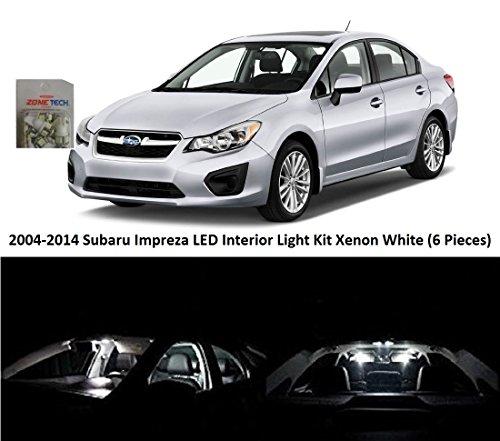 For 2004-2017 2018 Subaru Impreza LED Lights Interior Package Kit WHITE 6PCS