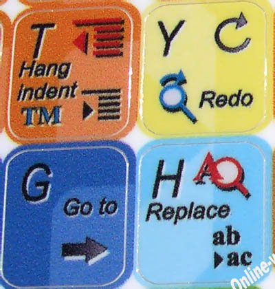 Microsoft Word Keyboard Stickers