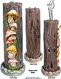 Mushrooms Family in Alice's Wonderland, Smoking Tower Incense Burner-Ashcatcher, by Nose Desserts