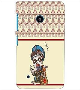 PrintDhaba Cartoon D-5806 Back Case Cover for NOKIA LUMIA 530 (Multi-Coloured)