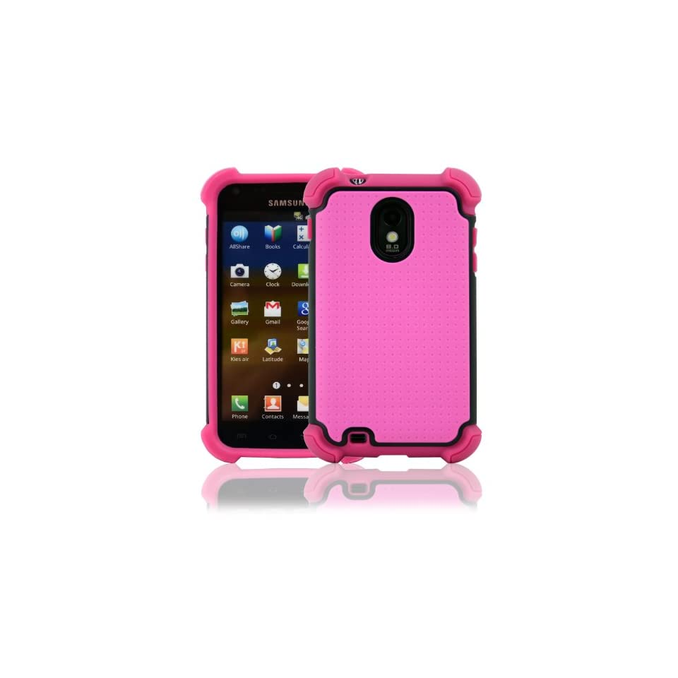 CellJoy Samsung Galaxy S II Case Triple Armor Layered for Epic Touch 4G (SPH D710, SCH R760) (Sprint / Boost / Virgin / US Cellular) Samsung Galaxy S2 [CellJoy Retail Packaging] (Hot Pink & Black)