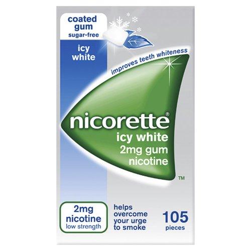 Nicorette Chewing Gum Icy White Gum 2mg  Quantity 105