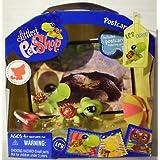 Littlest Pet Shop: Postcard Pets Turtle (#1009) With Pink Bucket Action Figure