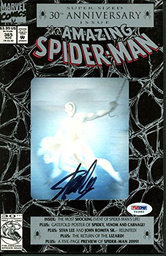 Stan Lee Signed The Amazing Spider-Man Comic Book 1992 30Th Anniv Issue 365 PSA