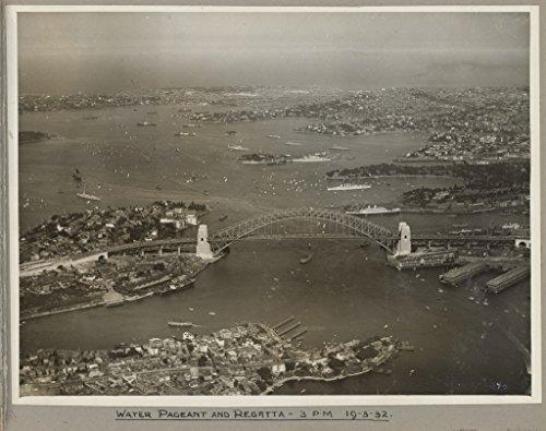 poster-water-pageant-regatta-sydney-harbour-bridge-19-march-1932-australia-wall-art-print-a3-replica