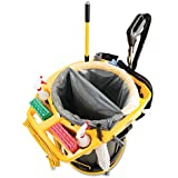 Rubbermaid Commercial Deluxe Rim Caddy, 28 1/2 x 39 1/8, Yellow - one caddy bag, mesh bag and tool holder.