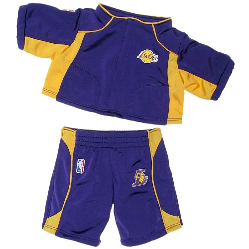 Build a Bear Workshop, Los Angeles Lakers Warm-Up 2 pc. Teddy Bear Clothing at Amazon.com