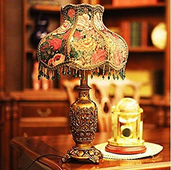Artistic European Style Garden Creative Classic Table Lamps with