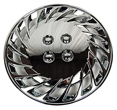 "Chrome 15"" Hub Caps Full Wheel Rim Covers w/Steel Clips (Set of 4) - KT-808-15"