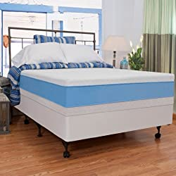 "Night Therapy Elite 13"" MyGel® Prestige Memory Foam Mattress & BiFold® Box Spring Set - Queen"