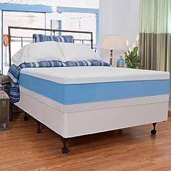 "Night Therapy Elite 13"" MyGel® Prestige Memory Foam Mattress & BiFold® Box Spring Set - Queen"